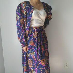 Vintage Maggy Boutique skirt and Blazer set